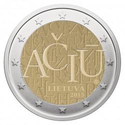 Lietuva 2 eurai, 2015 Lietuvių kalba AČIŪ