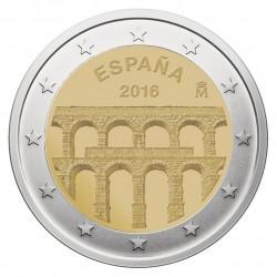 Ispanija 2 eurai, 2016 Aqueduct Segovia