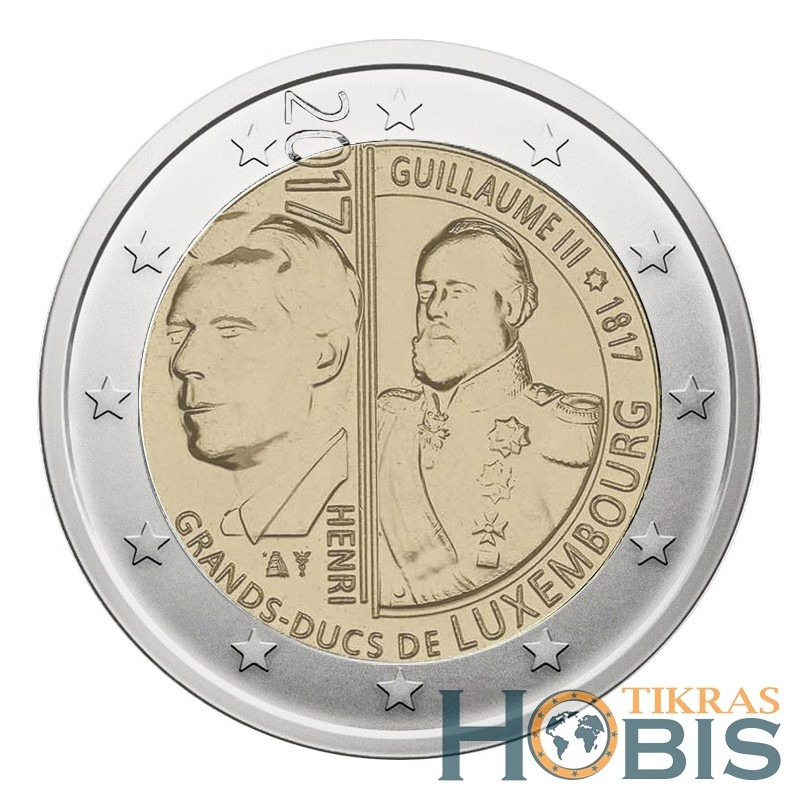 Liuksemburgas 2 eurai, 2017 200th Grand Duke William III