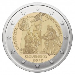 Slovakija 2 eurai, 2017 550th University Istropolitana