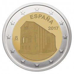 Ispanija 2 eurai, 2017 Mount Naranco in Oviedo
