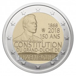Liuksemburgas 2 eurai, 2018 150th Constitution