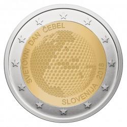 Slovėnija 2 eurai, 2018 Pasaulinė bičių diena UC104