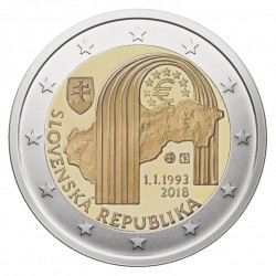 Slovakija 2 eurai, 2018 25th Anniversary - Slovakia