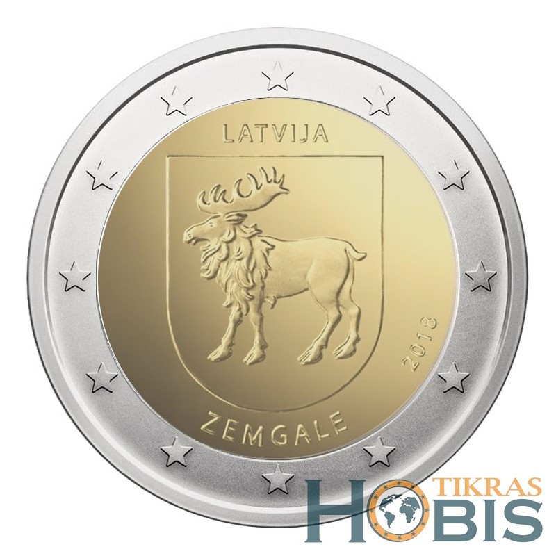 Latvija 2 eurai, 2018 Zemgale