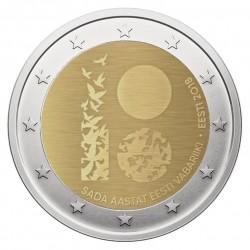 Estonia 2 euro, 2018 100th...