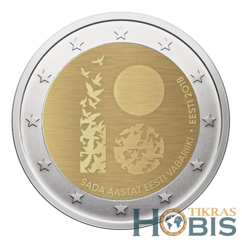 Estija 2 eurai, 2018 100th Anniversary - Estonia