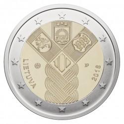 Lietuva 2 eurai, 2018 Baltijos valstybių šimtmetis