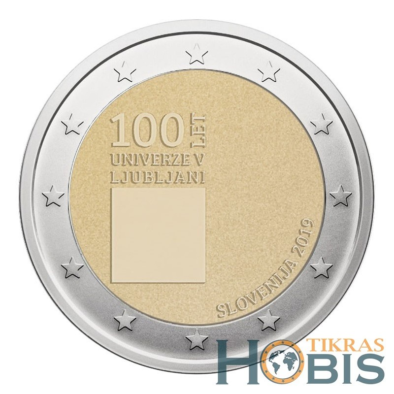 Slovėnija 2 eurai, 2019 100th Ljubljana