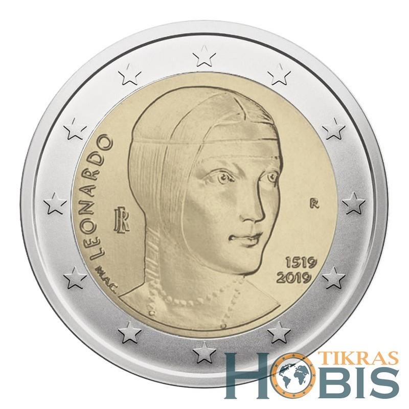 Italija 2 eurai, 2019 500th Leonardo da Vinci