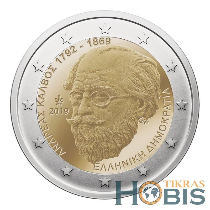 Graikija 2 eurai, 2019 150th Andreas Kalvos