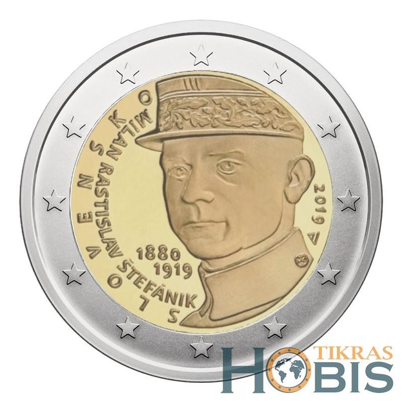 Slovakija 2 eurai, 2019 Milan Rastislav Štefanik