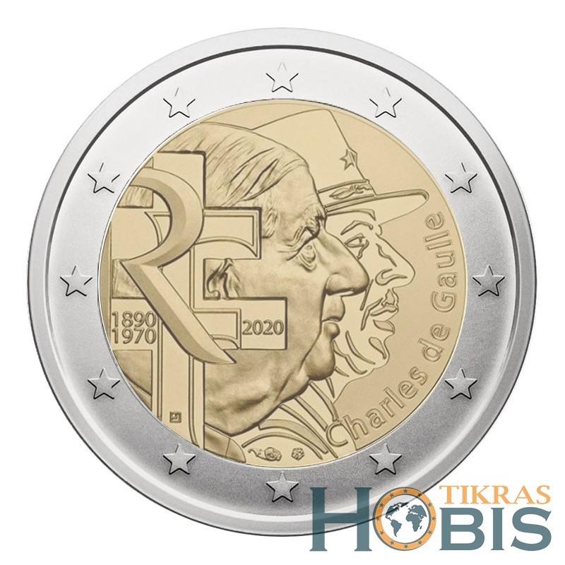 Prancūzija 2 eurai, 2020 50th Charles de Gaulle