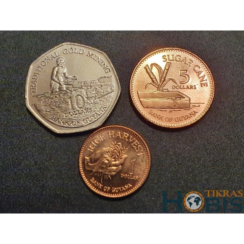 Gajana dolerių 3 vnt. setas, 1996 - 2018
