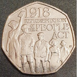 England 50 pence, 2018...