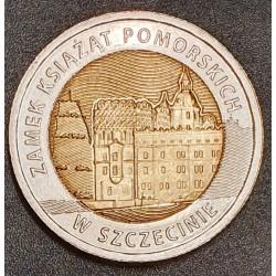 Lenkija 5 zlotai, 2016 Ducal Castle in Szczecin