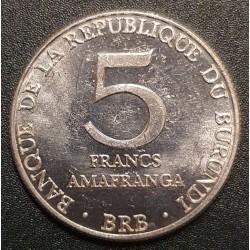 Burundis 5 frankai, 1980