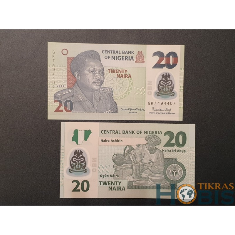 Nigerija 20 naira, 2019 P-34o