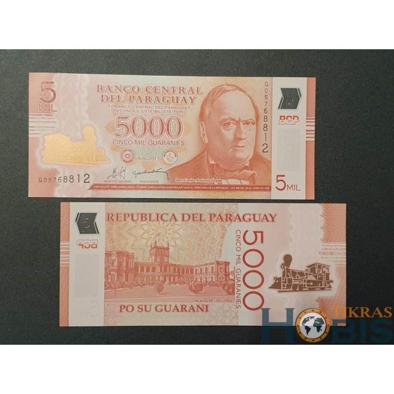 Paragvajus 5000 Guaranies, 2011 P-234a