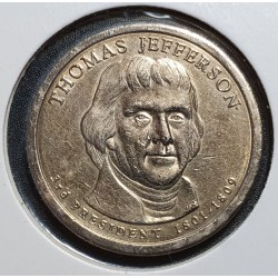 JAV 1 doleris, 2007 Thomas Jefferson Nr. 3