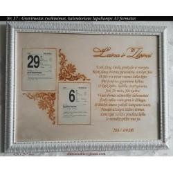 Calendar frame A3 No 37 -...