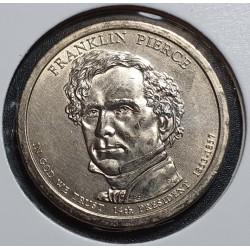 JAV 1 doleris, 2010 Franklin Pierce Nr. 14