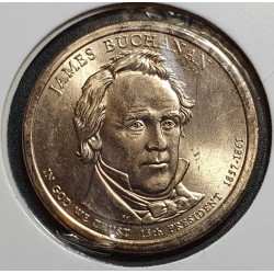 JAV 1 doleris, 2010 James Buchanan Nr. 15