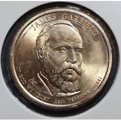 JAV 1 doleris, 2011 James A. Garfield Nr. 20