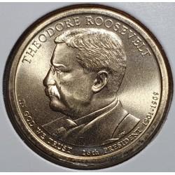 JAV 1 doleris, 2013 Theodore Roosevelt Nr. 26