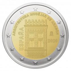 Ispanija 2 eurai, 2020 Mudecharų architektūra Aragone