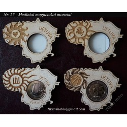 Wooden magnet for coin No 27