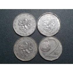 Čekija 2 kronos, 1993-2020