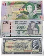 Amerikos šalių banknotai. Banknotų elektroninė parduotuvė