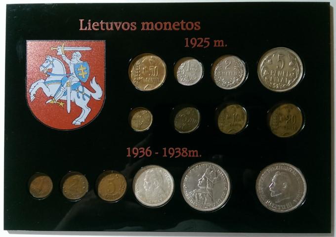 Vieno sluoksnio rėmelis monetoms