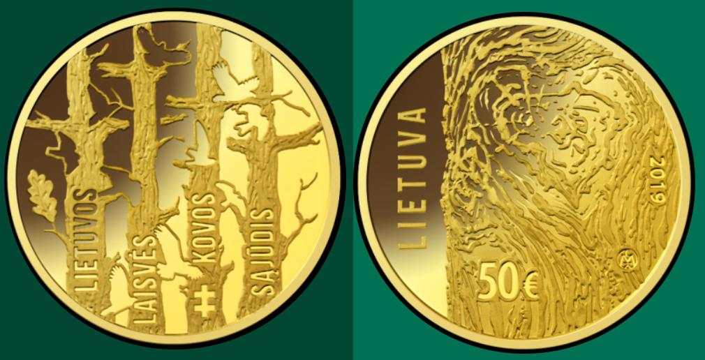 Moneta, skirta Lietuvos laisvės kovos sąjūdžiui  Plačiau: https://www.lb.lt/lt/monetu-isleidimo-planai/moneta-skirta-lietuvos-laisves-kovos-sajudziui